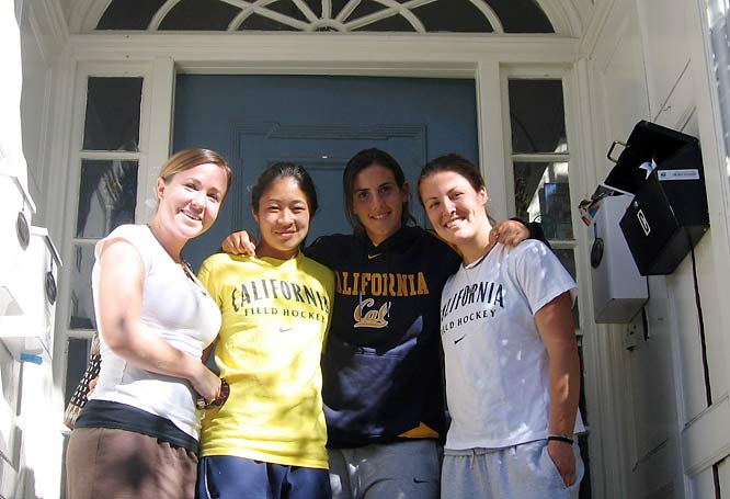 Welcome to the Berkeley home of Cal field hockey players (from left to right) Tara Robinson, Andrea Lo, Ashley Glosz and Carolina Bistue.