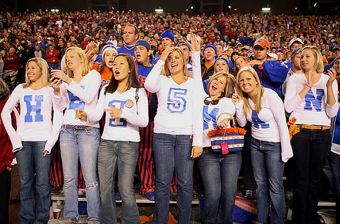 Florida fans throw their Heisman support behind  quarterback Tim Tebow.