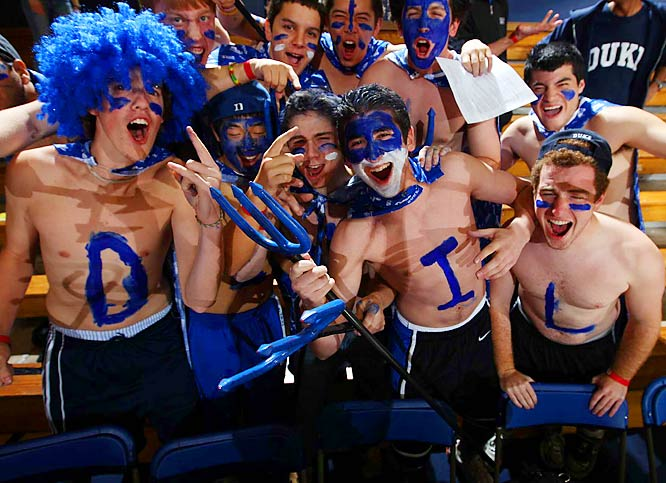 These Duke fans were in midseason form during the Blue Devils 121-56 victory over North Carolina Central.