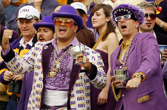 These LSU fans were big pimpin' during the Tigers' 41-24 victory over Ole Miss.