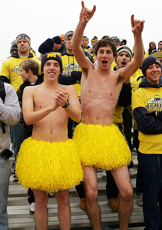 We don't see these Michigan fans getting a lot of action from the ladies.
