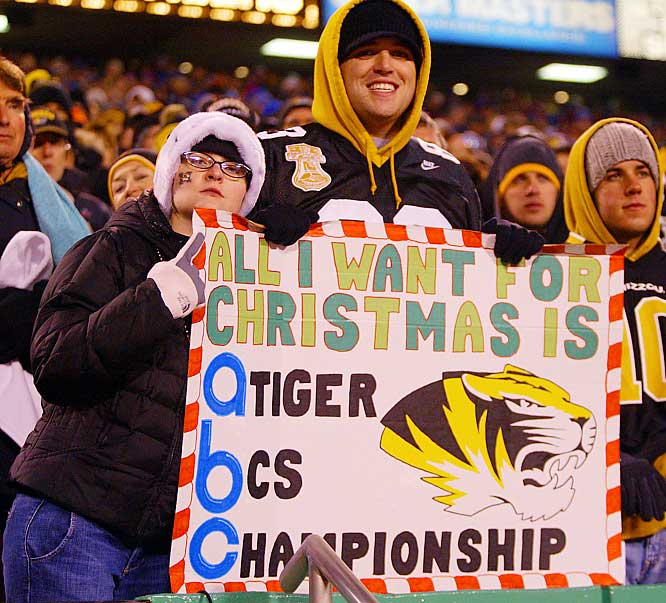 It appears that these Missouri fan will get their wish -- just as long as the Tigers beat Oklahoma this weekend.