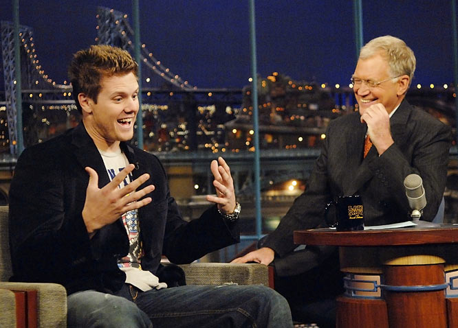 World Series winner Jonathan Papelbon also visited Letterman and generated many laughs.