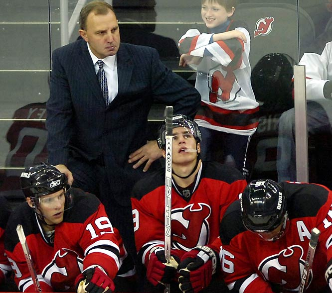New Jersey Devils coach Brent Sutter can't handle a little heckling without putting on the sour face.