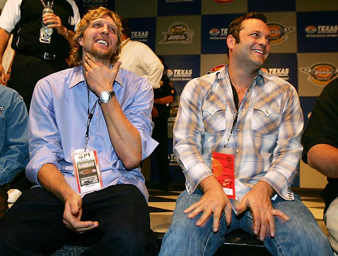 You know, after looking at this photo, we could see Dirk Nowitizki joining Vince Vaughn for the Wedding Crashers sequel.