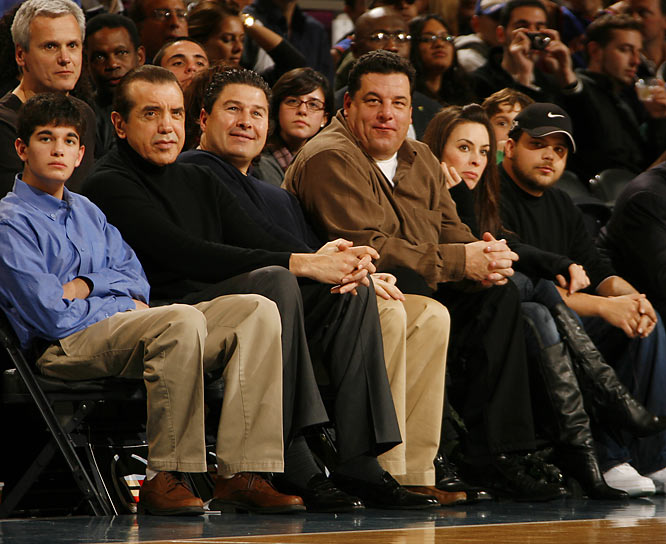 The Knicks are a disaster, but the stars still come out to see the team. Actor Chazz Palminteri, 'The Sopranos' Steve Schirripa and 'Entourage's' Jerry Ferrara all took in Tuesday's game against the Jazz.