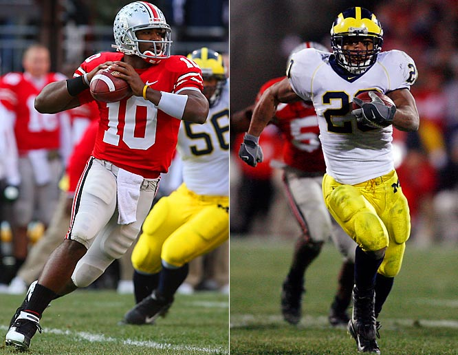 In an unprecedented meeting between the two rivals, No. 1 Ohio State hosted No. 2 Michigan in a game that would determine which of the two would play for the national title. The two teams would combine for a series-high 81 points as the Buckeyes earned a third straight win over U-M.