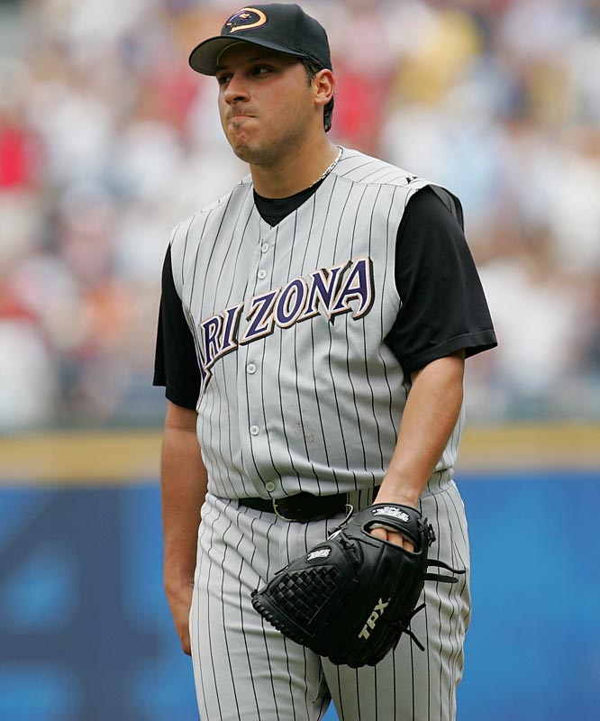 When the D'backs finally got tired of Ortiz's sad act and cut him in June of '06, just a year and a half into this contract, they still owed him close to $22 million. That shows you how poorly the righty pitched. His numbers were stunningly bad: In 28 starts he was 5-16 with a 6.99 ERA.