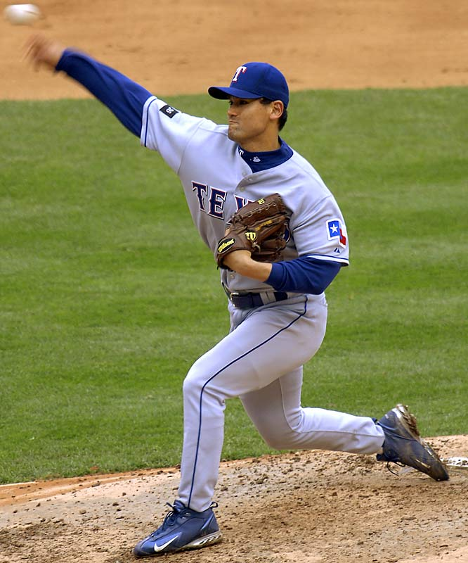 Park was the catch before the '02 season, but it wasn't long before Texas wanted to throw him back. Never a control pitcher, Park didn't fit well in hitter-friendly Arlington, and when injuries started taking their toll, the Rangers shipped him to San Diego. His totals for the contract: 33-33, 5.86 ERA.