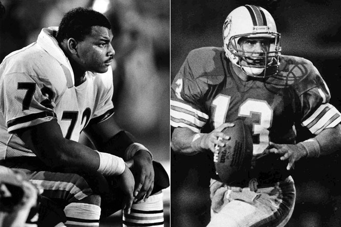 """The showdown between Miami's historically prolific offense and Chicago's famously stingy defense set a Monday Night Football ratings record which still stands. With members of the '72 team watching intently from the Miami sideline, Dan Marino solved Buddy Ryan's notorious """"46"""" defense and fired three touchdowns to end Chicago's bid for perfection. The Bears bounced back to run the regular-season table before shuffling through the Giants (21-0), Rams (24-0) and Patriots (46-10) to their first and only Super Bowl title."""