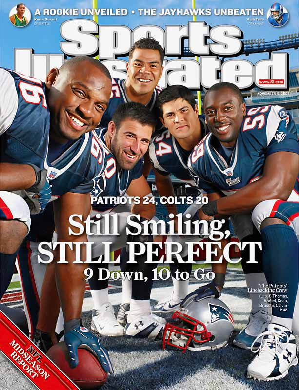Asterisk be damned. New England averages an eye-popping 41.1 points while surrendering a meager 15.7 to its opponents. Eight of the team's 10 victories have come by 20 points or more. The mounting pile of embarrassments -- a 52-7 dismantling of the Redskins here, a 56-10 lambasting of the Bills there -- have approached historical proportions. And if the Eagles (5-5), Ravens (4-6), Steelers (7-3), Jets (2-8), Dolphins (0-10) or Giants (7-3) don't bottle up the New England nor'easter over the next six weeks, the elite Perfect Season club will double in size after a 36-year wait.