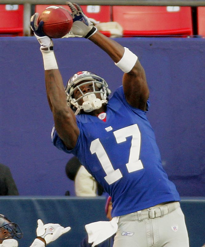 Eli Manning's favorite target has ended several games with dramatic catches.  Burress is among the best at grabbing the jump ball and his grit and determination cannot be questioned since he has played much of this season injured.
