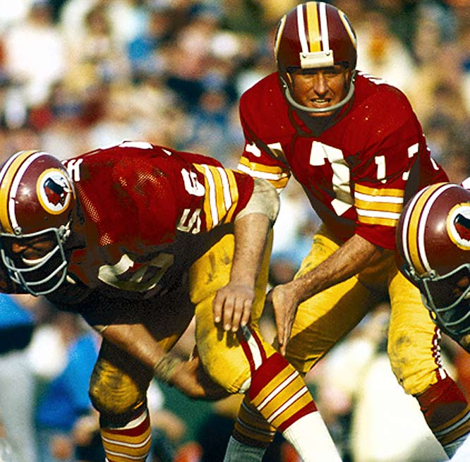 Billy Kilmer had beaten the Cowboys with his arm throughout the afternoon, completing 21 of 39 passes for 301 yards and three touchdowns. But in sudden-death overtime, the Washington signal-caller would settle the game with his legs -- leaping six inches over his right guard into the end zone for the game-clinching score.