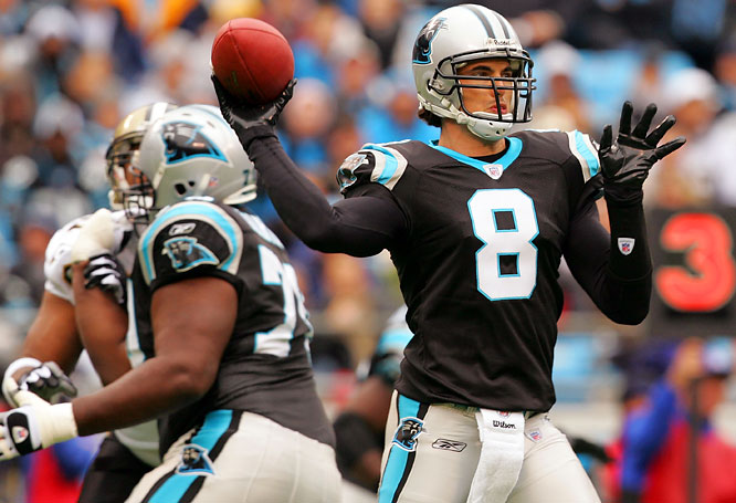 David Carr's ill-advised first interception led to a deluge of boos from the Bank of America Stadium crowd. But the Carolina quarterback's second pick at the start of the fourth quarter led to his benching in favor of rookie signal-caller Matt Moore.