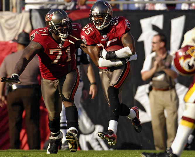 The reeling Redskins suffered their third-consecutive loss thanks to a maddening sequence which included four fumbles in a span of 16 offensive plays. But a pair of drive-killing Jason Campbell interceptions -- including Brian Kelly's pick in the end zone with 17 seconds remaining -- allowed the NFC South-leading Buccaneers to escape with a 19-13 victory.