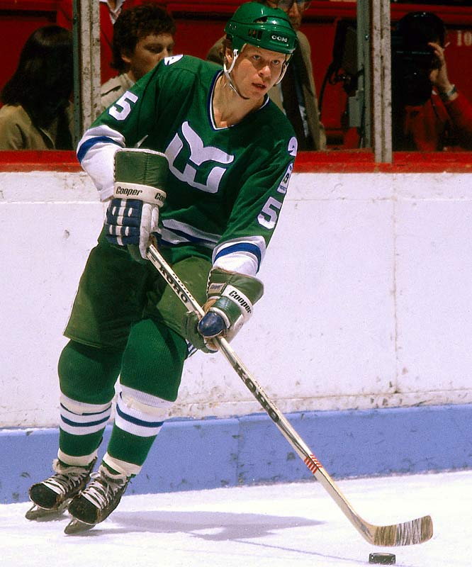 Born in Detroit to hockey royalty, he skated with his illustrious father Gordie at Red Wings training camps as a kid and later as a pro with the Houston Aeros of the WHA (1973-74). So versatile he could play forward and defense well, the four-time All-Star tallied 742 points in 16 NHL seasons with the Whalers, Flyers and Red Wings. He was inducted into the U.S. Hockey Hall of Fame in 2003.