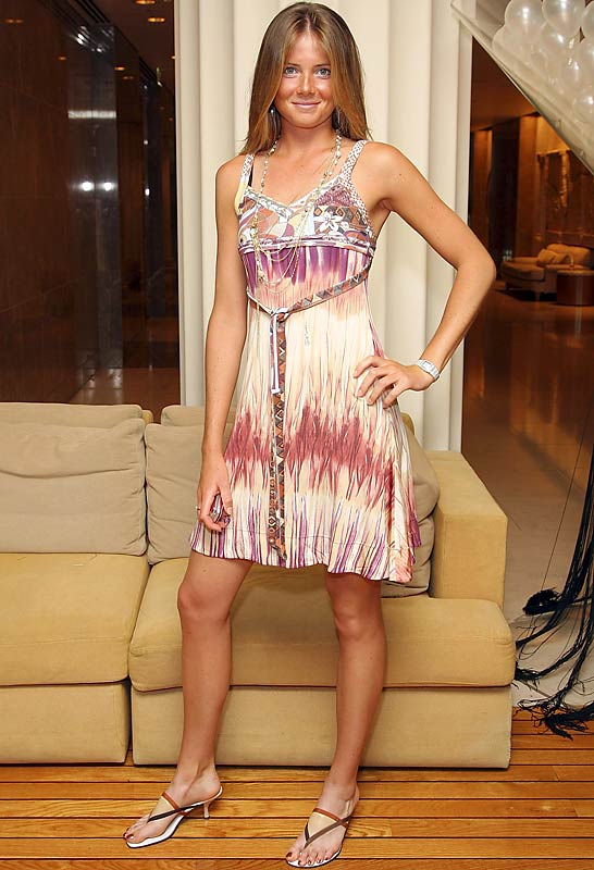 Tennis player Daniela Hantuchova struck a pose for the cameras at the IMG Tennis Party in Australia.