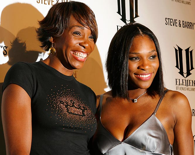 Serena Williams comes out in support of EleVen, her sister Venus' new line of athletic wear for Steve & Barry's.