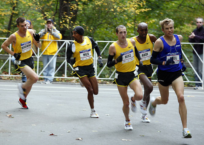 In his first Olympic marathon trials, Hall won in a  record time of 2 hours, 9 minutes, 2 seconds.