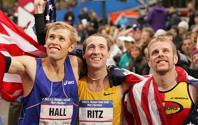 Ryan Hall, Dathan Ritzenhein and Brian Sell look forward to representing the U.S. at the 2008 Summer Games.