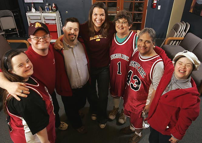 Arizona State guard Danielle Orsillo has spent more than 150 hours over the last two years shooting hoops, cooking meals and playing video games with mentally disabled adults at an ARC recreation center in Tempe.