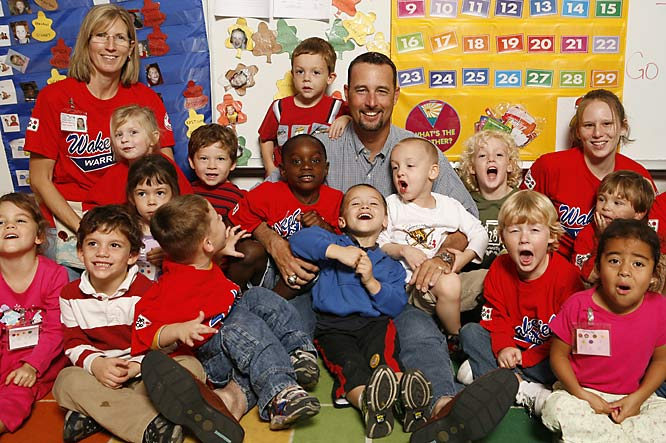Since 1992, Boston Red Sox knuckleballer Tim Wakefield has been instrumental in supporting the Space Coast Early Intervention Center, a preschool for children with special needs in his hometown of Melbourne, Fla.