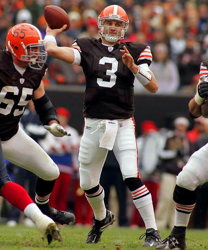 The biggest surprise in sports this year might be the Cleveland Browns, the team everyone and their mother picked to finish in the cellar of the AFC. Credit the franchise with not panicking and starting rookie Quinn. If it had, it would have missed out on the revelation that is Derek Anderson (pictured). Instead, the Browns traded opening day starter Charlie Frye to the Seahawks for a sixth-rounder and switched to Anderson, who has them in the playoff race. Take that, mom.