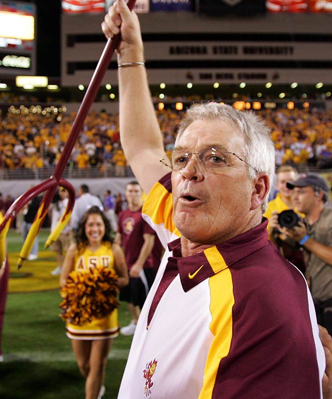 Arizona State athletics director hired well-traveled collegiate and NFL coach Dennis Erickson to replace Dirk Koetter just 12 months ago -- and the returns on the investment have been immediate. The Sun Devils peaked at No. 4 in the BCS rankings before finishing with a 10-2 record and a share of the Pac-10 conference championship.