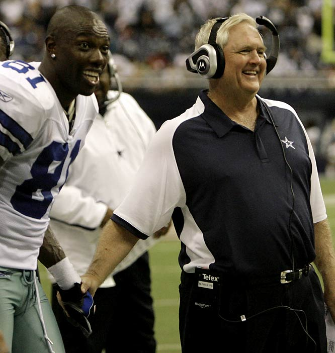 Sure, Bill Parcells might have overseen the drafts which laid the groundwork for this year's renaissance in Big D. But not until head coach Wade Phillips and offensive coordinator Jason Garrett took over management duties did everything click into place for the resurgent Cowboys. Since those hires, Dallas has gone 11-1 while supplanting the Eagles as beast of the NFC East. But most impressive has been the sound of silence from a certain outspoken wide receiver's direction -- a reflection of Phillips and Garrett's laissez-faire leadership style.