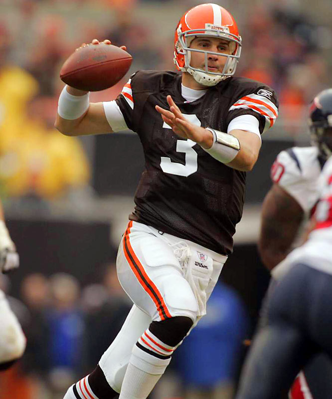 The formally unheralded quarterback, who went from third-string with Baltimore in 2005 to Cleveland's second-choice starter in Week 2, threw for 3,787 yards and 29 touchdowns (with 19 interceptions) this season. The Browns finished 10-6 and just missed the playoffs.