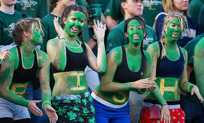 All the bodypaint in the world can't erase Notre Dame's  3-9 season.