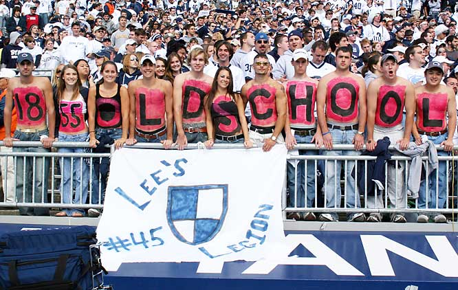 Penn State fans are old school.