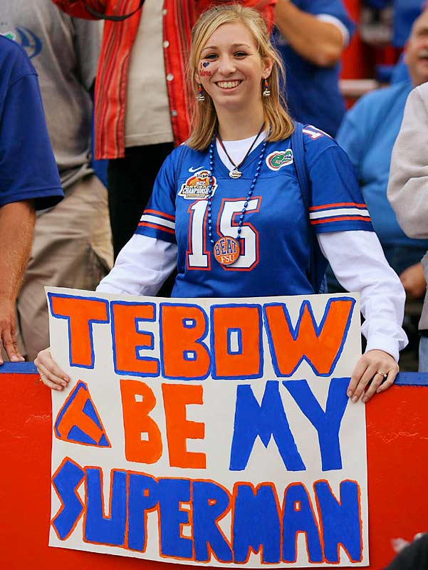 Tim Tebow seems to be the Superman to a lot of female Gator fans.