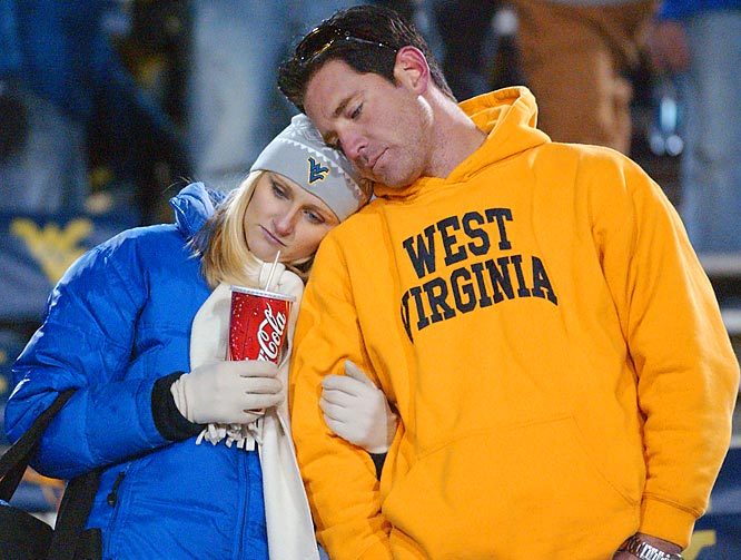 West Virginia fans had a tough time swallowing the Moutaineers' 13-9 loss to Pitt, which eliminated WVU from the BCS Title game.