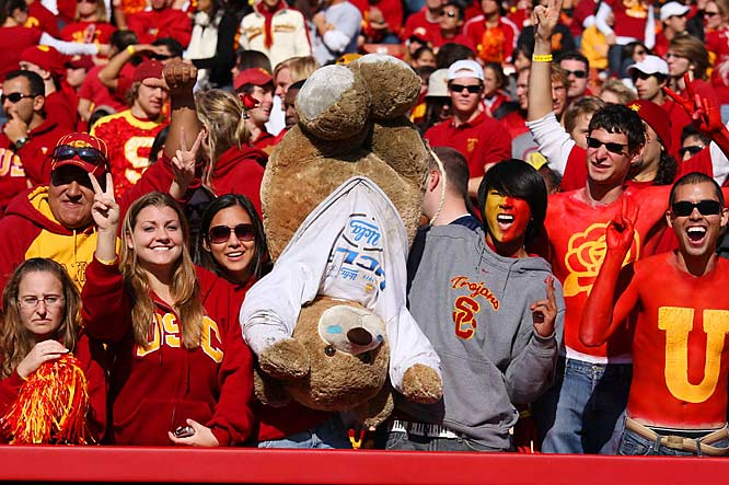 Nobody beats up teddy bears like the student body of USC.