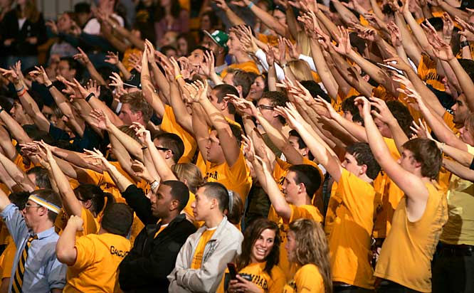 UC Santa Barbara fans enjoy The Wave during the Gauchos' 68-57 victory over Pepperdine.