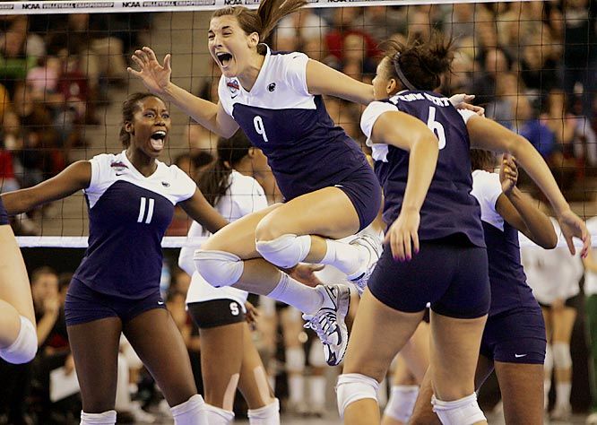 And one more exception -- this one for Penn State's celebration after defeating Stanford to claim the national championship in women's volleyball. We especially liked the intense eyes of Megan Hodge (No. 11).