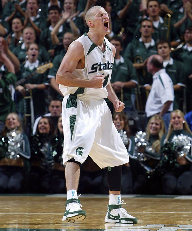 "Nov. 2 in East Lansing, Mich.<br>85-82 (2 OT) (exhibition)<br><br>The Spartans, who were ranked No. 8 in the preseason AP poll, suffered an early blow to their reputation by dropping an exhibition in at a sold-out Breslin Center.  L.J. Kilgore, the Lakers senior who held MSU star Drew Neitzel (pictured) to 3-of-15 shooting, said, ""You could just see everybody in the crowd's mouths wide open. Like, 'Wow, Michigan State just got beat by this Division II basketball team.'"""