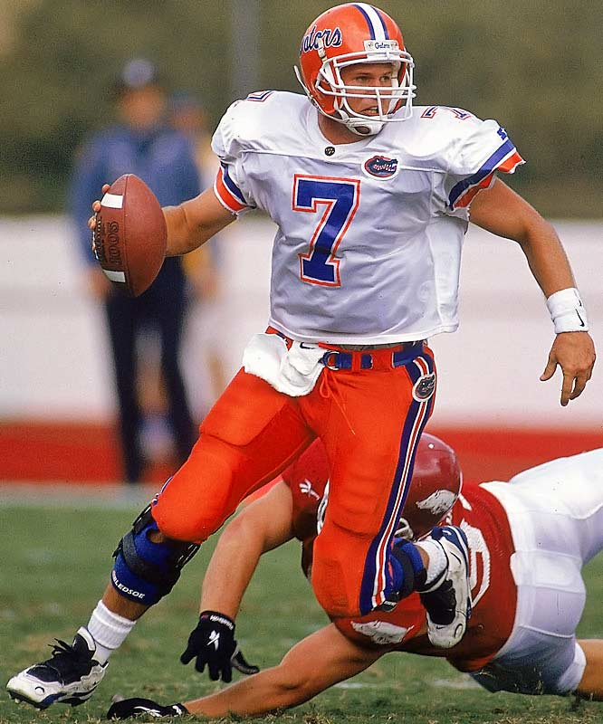 Here's the guy Tim Tebow is shooting for when it comes to Gator legacy: Wuerffel completed 708 of 1,170 passes for 10,875 yards and 114 touchdowns at Florida. He won the Heisman Trophy in 1996 and led the Gators to four consecutive Southeastern Conference titles and the 1996 national title.<br><br>Runner-up: <br>John Elway, QB, Stanford (1979-82)