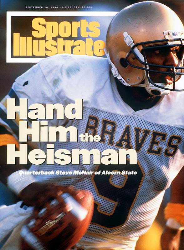Nicknamed Air for his aerial show at Alcorn State, McNair is the only player in NCAA history to gain more than 16,000 yards (16,823) in total offense during his college career. He finished third in the Heisman Trophy voting in 1994.<br><br>Runner-up: <br>Don McPherson, QB, Syracuse (1985-87)