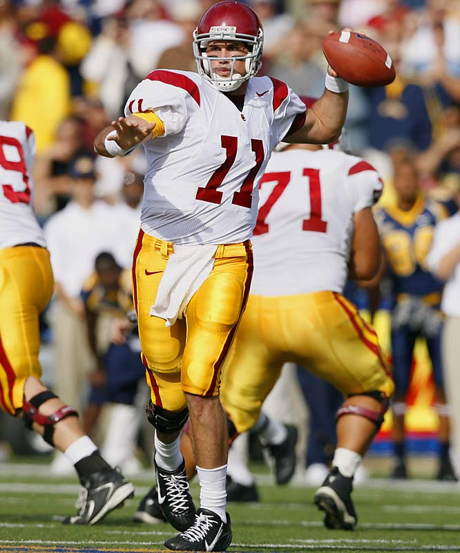 Holding the title of Tailback U's greatest passer, Leinart completed 807-of-1,245 passes for 10,693 yards and 99 touchdowns with just 23 interceptions. He was 37-2 as a starter and won the 2004 Heisman Trophy.<br><br>Runner-up: <br>Steve Spurrier, QB, Florida (1963-66)