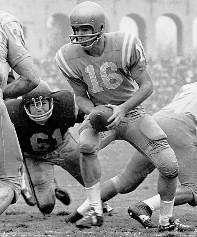 Dubbed the ''Great One,'' Beban helped lead the Bruins to a 24-5-2 record. He set a school record for total offense that lasted 15 years and was an unanimous All-America as well as winner of the Heisman Trophy as a senior.<br><br>Runner-up: <br>Peyton Manning, QB, Tennessee (1994-97)