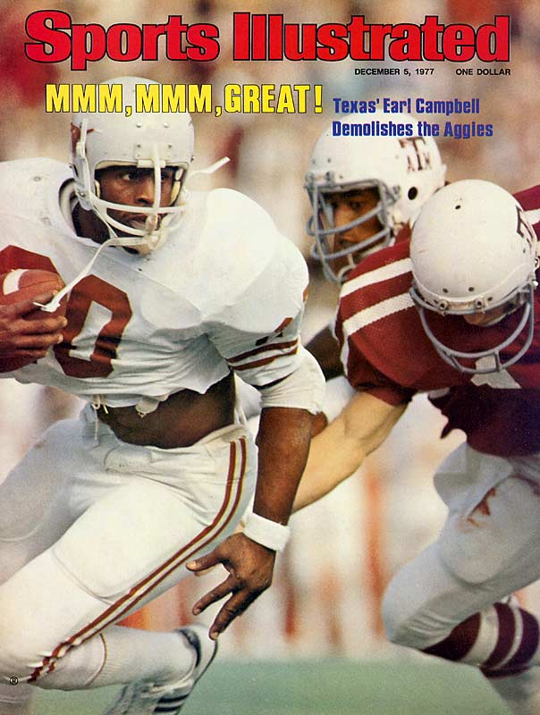 The Tyler Rose dominated like few running backs before him. He rushed for 4,443 rushing yards, 41 touchdowns and won the 1977 Heisman Trophy.<br><br>Runner-up: <br>Johnny Rogers, KR/WR, Nebraska (1970-72)