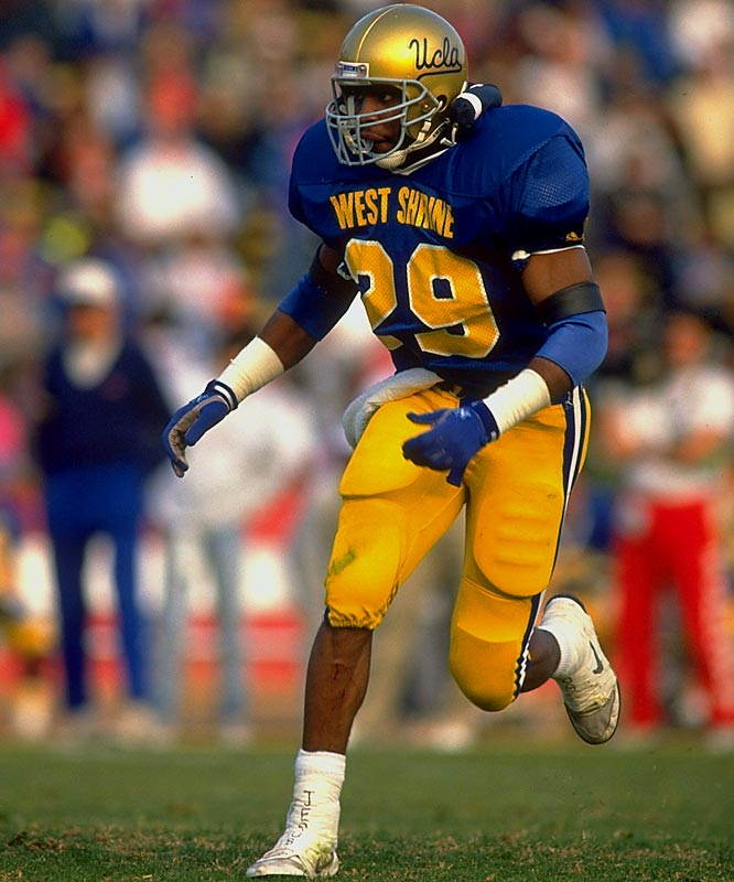 A free safety for the Bruins, Turner earned All-America honors in 1990 and ranks fourth in career tackles (369) and interceptions (14) at UCLA.<br><br>Runner-up: <br>Bruce Smith, Great Lakes Naval Training Station (1942)