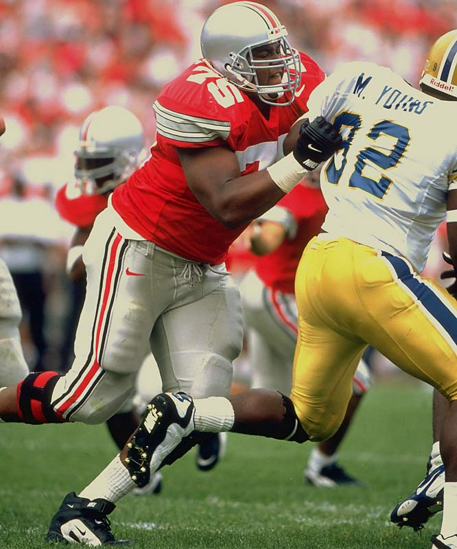 Pace's massive size, speed, strength and agility made him the ultimate lineman. He won the Lombardi Award in 1995 and '96 and the Outland in 1996. He finished fourth in the 1996 Heisman balloting, the best finish for a lineman since OSU's John Hicks was second in 1973. <br><br>Runner-up: <br>Joe Greene, DE, North Texas State (1966-68)