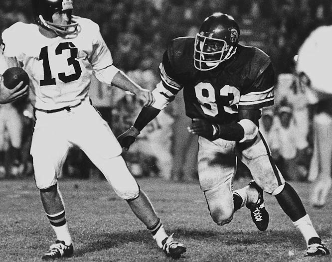 Wood won two national championships as a Trojan and did something that neither Reggie Bush, Matt Leinart, O.J. Simpson nor Lynn Swann ever did: He is USC's only three-time All-America.<br><br>Runner-up: <br>Kellen Winslow, TE, Missouri (1975-78)