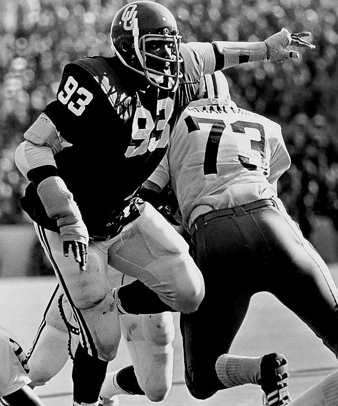 A consensus All-America in 1974 and '75, he and brother Dewey combined to give OU one of the best defenses in college football history. Lee Roy won the Lombardi and Outland in 1975.<br><br>Runner-up: <br>Aundray Bruce, LB, Auburn (1985-88)