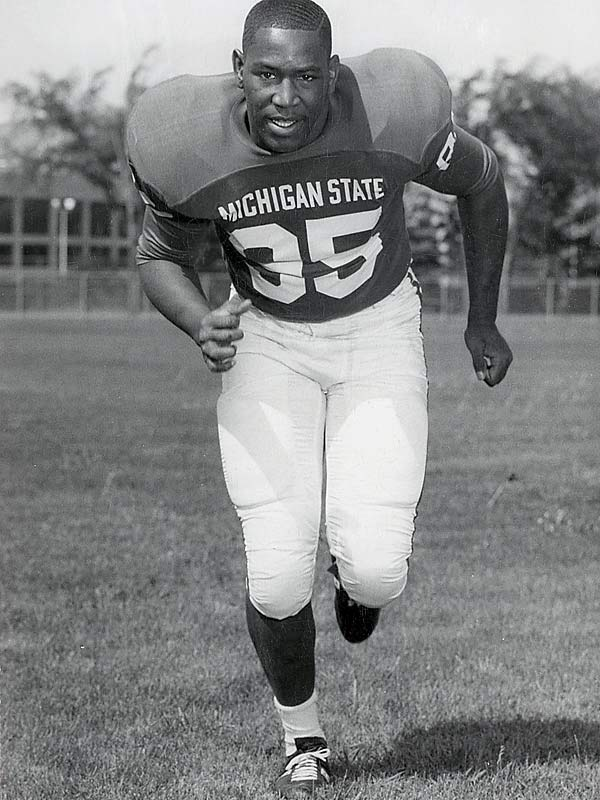 His strength, speed and agility made him a force at defensive end for the Spartans. Smith was a two-time All-America and was named the UPI Lineman of the Year as a senior (1966).<br><br>Runner-up: <br>John Witte, T, Oregon State (1953-56)
