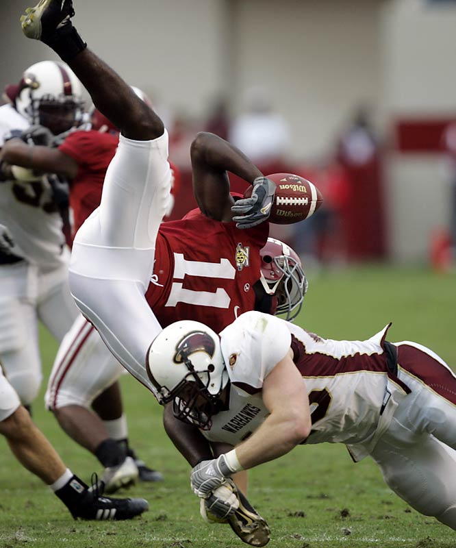 The 24 1/2-point underdogs from the Sun Belt Conference held Alabama scoreless in the second half. The WarHawks forced four turnovers, blocked a field goal and stalled a number of promising Tide drives in the fourth quarter. A few days after the loss, Alabama coach Nick Saban compared the defeat to 9/11 and Pearl Harbor.