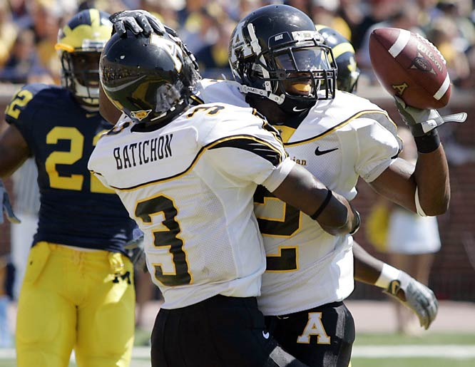 In the year of the positively shocking and not-to-be-believed, the Mountaineers ushered in the season of upsets, knocking off then-No. 5 Michigan in the Big House 34-32.